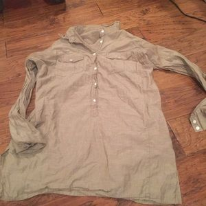Worn once! J. Crew Tunic Top Olive Green